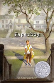 2014 Newbery honor.  The beautiful story of a substitute paperboy who deals with his fears and his stuttering in the course of fulfilling his job.  Loved it!