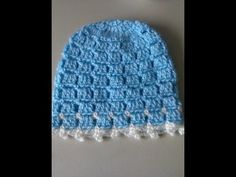 ▶ Crochet Easy and unique stitch hat tutorial - YouTube