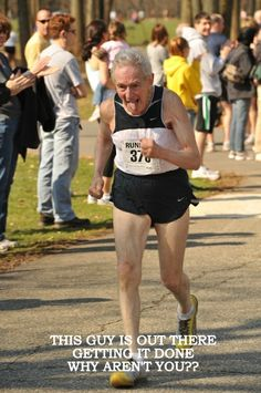 This guy is a 100 year-old MARATHONER. Take that in for a moment.