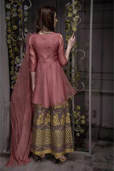 EXCLUSIVE DESERT SAND PARTYWEAR - AQS93 - Exclusive Online Boutique Pakistani Fashion Casual, Pakistani Dresses Casual, Pakistani Wedding Outfits, Pakistani Dress Design, Indian Dresses, Indian Outfits, Indian Attire, Designer Party Wear Dresses, Kurti Designs Party Wear