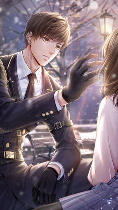 love and producer Couple Anime Manga, Anime Cupples, Anime Love Couple, Kawaii Anime, Cool Anime Guys, Handsome Anime Guys, Hot Anime Boy, Anime Girls, Anime Couple Romantique