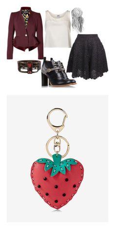"""Strawberry keychain"" by rebekahdrhodes03 ❤ liked on Polyvore featuring Nina Ricci, Vero Moda, Just Cavalli, Chloé, Rebel Designs, bags, handbags, red, handbag purse and long purse"