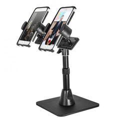 TW Broadcaster Pro Stand - Dual Smartphone Desk or Counter Stand for Live Mobile Broadcasting. Excellent way to do video broadcasting through multiple sources. If you have two phones, put them both to work....average cost is $69.00 | #YvetteLongInternational