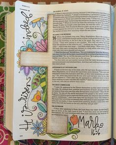 Art Journal Ideas Doodles Creative Bible Studies 52 Ideas For 2019 Faith Bible, My Bible, Bible Scriptures, Easter Bible Verses, Bible Doodling, Scripture Art, Bible Art, Book Art, Bible Study Tips