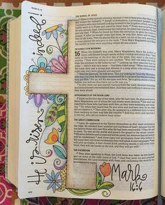 Easter Day Bible journal polkadotpaintbrush: