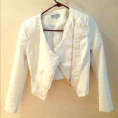 White Beulah faux leather jacket White faux leather jacket! Great condition. Worn once!! Jackets & Coats