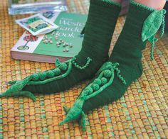 Ravelry: Peas Slipper Socks pattern by Mary Scott Huff - from Fun and Fantastic #Slippers to #Knit.