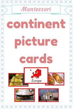 A great collection of picture cards to represent different unique aspects of the continents. There are two different sizes of cards - for sorting and for creating continent folders. Includes pictures of all seven continents with labels.