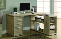 Shop a great selection of Monarch Specialties Hollow-Core Left Right Facing Corner Desk, Natural. Find new offer and Similar products for Monarch Specialties Hollow-Core Left Right Facing Corner Desk, Natural. L Shaped Office Desk, L Shaped Desk, Home Office Desks, Home Office Furniture, Online Furniture, Furniture Outlet, Shelf Furniture, Modern Furniture, Furniture Sets