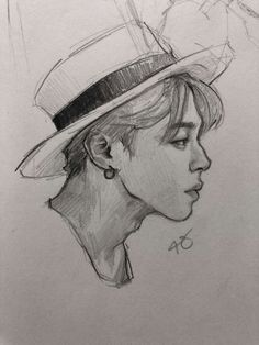 So so so beautiful *_* Kpop Drawings, Pencil Art Drawings, Art Drawings Sketches, Sketch Drawing, Jimin Fanart, Kpop Fanart, Wow Art, Bts Chibi, Art Sketchbook