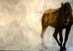 Eugenia Mitsanas (mixed media on paper x Horse Mural, Horse Art, Emily Carr Paintings, Copper Artwork, Point Reyes Station, Watercolor Horse, Equine Art, Types Of Art, Beautiful Artwork