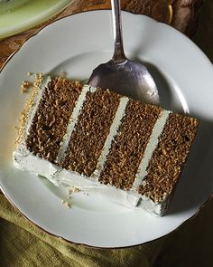 Matcha Green Tea Layer Cake -  #sweetpaul #Cake #GreenTea #Matcha