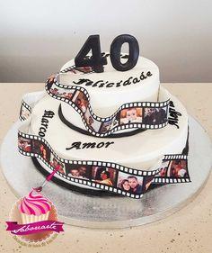Bolo Película fotográfica Photografic film cake Cake, Desserts, Food, Personalized Cakes, Tailgate Desserts, Deserts, Kuchen, Essen, Postres