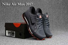 new concept 9ef28 69ea0 Nike Air Max 2017 Run Shoes Top Carbon Gray For Men Mens Sneakers 2017, Air