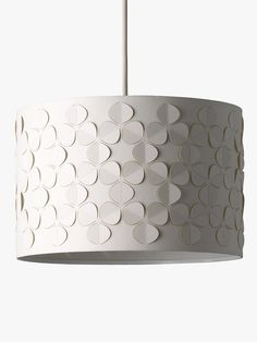Buy John Lewis & Partners Clara Cutwork Drum Shade, White from our Ceiling & Lamp Shades range at John Lewis & Partners. Modern Lamp Bases, Laser Cut Lamps, Laser Cut Patterns, Ceiling Lamp Shades, White Lamp Shade, Cylinder Shape, Unique Lighting, Cutwork, Drum Shade