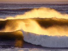 Rolling Tide at Sunset, Fort Stevens State Park, Oregon