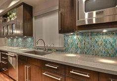 Kitchen Project by ASD Interiors using Hirsch Glass Backsplash 3