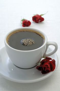 Flowers with my coffee :)