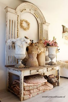 isn't this gorgeous - idea for use of old architectural details