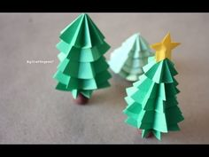 Aprende a hacer un arbolito navideño de papel (VIDEO) | Ideas para Decoracion