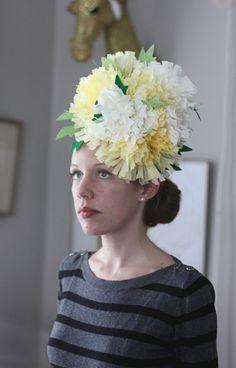 Aunt Peaches: Easter Bonnets Part Un: Coffee Filter Fascinators
