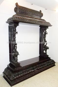 Source SOUTH INDIAN TRADITIONAL POOJA MANDAPA (9ft x 9ft) WITH ELEPHANT YAZI HORSE PILLAR POOJA MANDIR on m.alibaba.com Indian Decor, House Design, Traditional Decor, Room Design, Pooja Room Door Design, Indian Living Rooms, Room Door Design, Room Doors, Home N Decor
