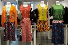 Dresses and skirts combining different fabrics    (Colette Women, Paris « The Sartorialist)