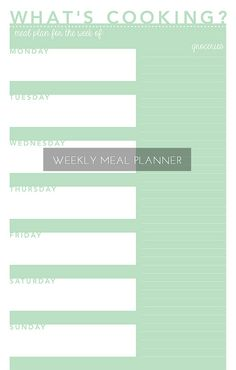 Great meal planner.