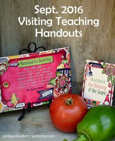 Sept. 2016 Visiting Teaching Handout - Pink Polka Dot Creations