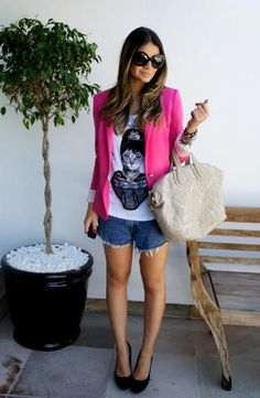 Jeans Shorts - Thassia Naves Look moda fashion brasil brazil blogger style