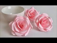 【Paper Flower】とても簡単!美しいバラ Beautiful Paper Rose - YouTube