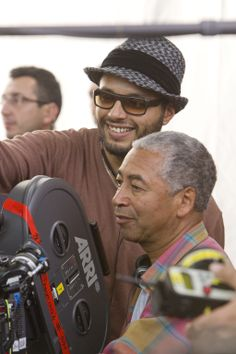 (L to R) Director MABROUK EL MECHRI and Cinematographer REMI ADEFARASIN on the set of THE COLD LIGHT OF DAY Photo: Diego Lopez Calvin © 2010 Summit Entertainment, LLC. All Rights Reserved.