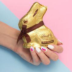 Super cute Easter nail art! and chocolate bunny <3 #nailart #nails