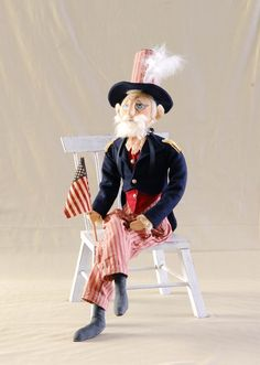 'Uncle Sam' Figure, Soft Sculpture Doll *** Quickly view this special deal, click the image : Collectible Figurines for Christmas