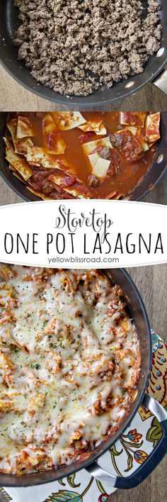 Stovetop One Pot Lasagna - Ready in 30 minutes and perfect for busy weeknights! #pmedia #joytothetable #ad
