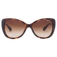 7037606249 Vogue VO2819S-W656/13 Dark Havana/Tortoise Frame Brown Gradient Glass  Women's Cat Eye sunglasses #vogue #sunglasses #Women #Tortoise #stylish  #CatEye