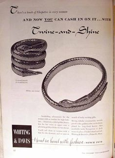 The VintElegance Voice: Vintage Jewelry Ads  Check out my blog!  http://vintelegance.blogspot.com