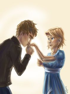 TLC Ship Weeks: Thress fanart submission. Themed Firsts. This is of when Cress and Thorne were properly introduced.