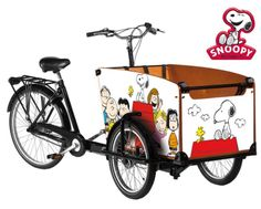 Babboe big bakfiets snoopy stickers