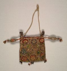 Purse    England, early 17th century    Date: early 1600s    Medium: embroidery; silk and silver filé on linen ground    Dimensions: Overall - h:29.50 w:22.00 cm (h:11 9/16 w:8 5/8 inches