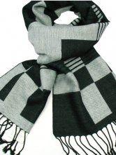 Fantasy Gray Black Cashmere Neckerchief For Man - Milanoo.com