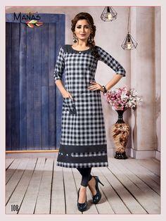 Manas Aakruti Cotton Kurtis Summer Collection In India New Kurti Designs, Kurti Designs Party Wear, Churidar Designs, Mehndi Designs, Summer Collection, Dress Collection, Khadi Kurta, Party Wear For Women, Kurti Styles