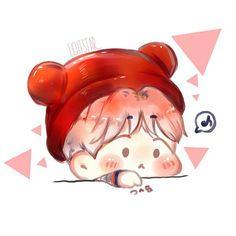 Text Me/Baekyeol - Exo, Baekhyun, Baekyeol, Chanbaek, We Are Together, Kpop Fanart, Chibi, Pikachu, Kawaii