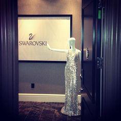 The glamorous entrance to Swarovski's Fashion Suite in celebration of film in Toronto