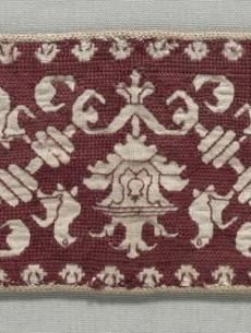 Embroidered Strip    Italy, 16th century    Date: 1500s    Medium: embroidery; silk on linen    Dimensions: Overall - h:7.60 w:35.60 cm (h:2 15/16 w:14 inches)