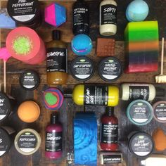 New Lush products fresh from the shelves of Lush Oxford Street, Lush Portsmouth holds the extended range. On sale 7/8/15