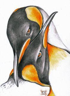 King Emperor Penguins by Evey Studios
