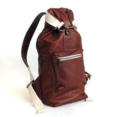 Great carry-all.  |  Roll Top Sack - Brown Leather