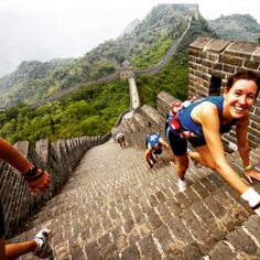 Pin for Later: 15 Beautiful Races to Cross Off Your Running Bucket List Great Wall Marathon Where: Great Wall, Tianjin Province, China When: May Why you should go: Go for the challenge, the view, and the bragging rights. Register here. Great Wall Marathon, List Challenges, Adventure Bucket List, Keep Swimming, Places To See, Racing, Popsugar, Tianjin, Running Quotes