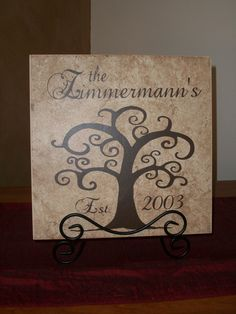Personalized Family Tree Decorative Tile by willowacres2010, $20.00